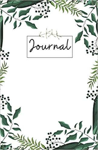 A journal with plants on the cover